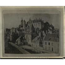 1925 Press Photo De Merode castle in Belgium destroyed in WW - nee07966