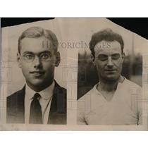1923 Press Photo V.B. Powell (L) and W.R. Applegarth (R) both famous athletes