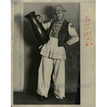 1929 Press Photo Croatian costume worn by SJ Lucic - nee07286