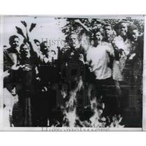 1957 Press Photo of student protestors in Pakistan. - nee08445