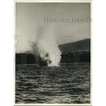 1930 Press Photo Submarine Mines Electrically controlled by Harbor Defense