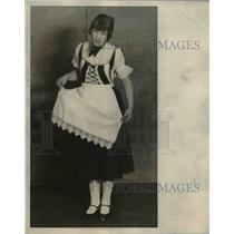 1929 Press Photo Danish costume worn by Evelyn Peterson