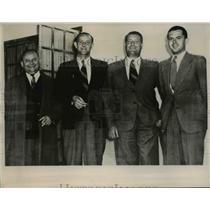 1941 Press Photo Guenther Katzke, Hans Sandkamu, Ewald Flesch, and Verner Naumar