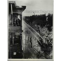1934 Press Photo Flames Destroy Apartment Building - nee07375