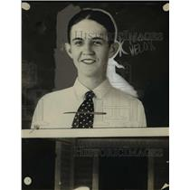 1925 Press Photo Edward Benson of Hammond Ind farmer - nee06583