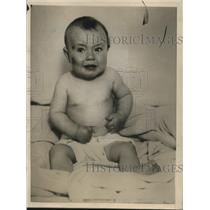 """1926 Press Photo Unidentified Abandoned Baby """"Billy,"""" Baltimore Maryland"""