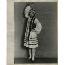 1929 Press Photo Irene Raskowski in Polish folk costume