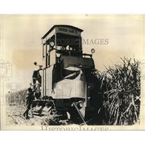 1930 Press Photo of the front view of a harvester in the Florida Everglades.