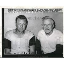 1960 Press Photo NYC Casey Stengel & new manager Ralph Houg of Yankees