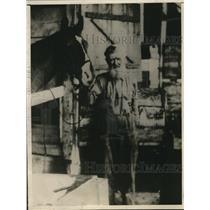 1922 Press Photo Thomas Cheeks, a jockey way back before the Mexican War