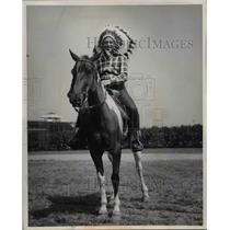 1955 Press Photo Big Chief Norman Wain for WDOK - nee07355