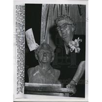 1955 Press Photo Mrs Myrtle Powers Baseball Fan From Georgia Wins $32000
