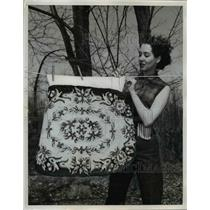 1924 Press Photo Rug Hung out to Dry - nee16081