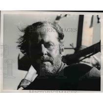 1969 Press Photo Explorer Heyerdahl contemplative look at the sea - nee12805