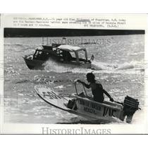 Press Photo Glen Filipponi in Naniamo Vancouver Bathtub Races - nee14139