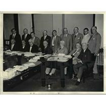1935 Press Photo Exec Council American Federation of Labor, Gainor, Woll