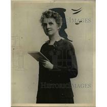 1922 Press Photo Mrs Nettie Tupper McGrath pastor Oak Park Ill - nee14503