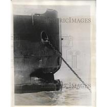 1927 Press Photo Bow Of Sac City After Accident - nee09069