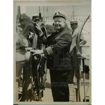 1927 Press Photo Philadelphia Pa Capt Louis J Connelley on the ship Annapoilis