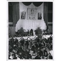 1955 Press Photo Wash. DC National Guiard honor House Speaker Sam Rayburn
