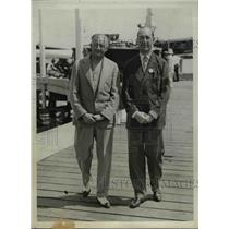 1931 Press Photo Victor Eispatr Owner of Hotsy Totsy & John Wanamaker in Regatta