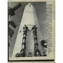1958 Press Photo Cape Canaveral Fla US Army Juno moon rocket - nee16280