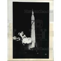 1958 Press Photo Cape Canaveral Fla launch of US Army Jupiter missle - nee16278