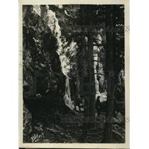 1925 Press Photo Waterfalls ice formation at Brown's Cove - nee13022