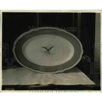 1919 Press Photo A dinner plate used in the White House  - nee11671