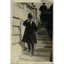 1921 Press Photo Charles E. Hughes, Secretary of State Leaving D.A.R Hall