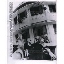 1955 Press Photo Rioters Taking Part In Anti European Demonstrators - nee18412