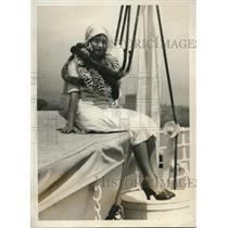 1930 Press Photo Marie Swanson, Most Popular Girl in Hawaii