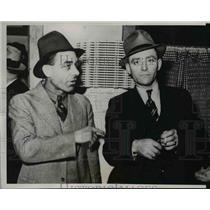1937 Press Photo Homer Slyvester Sheriff of Case County & Cass Slyvester Deputy