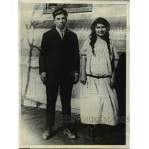 1925 Press Photo John and Adelina Santos of Santa Clara California - nee23690