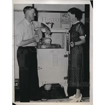 1938 Press Photo Georgia farmers, H.L. Smith and Mrs. Smith  - nee20516
