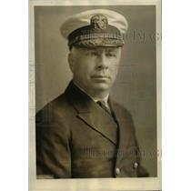 1923 Press Photo Captain Edmund Bonnaffon, officer in charge of naval vessels