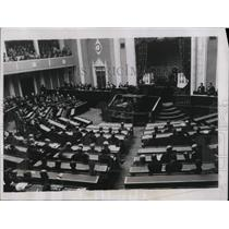 1934 Press Photo Japanese Diet at 65th session opening