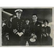 1938 Press Photo Sir Robert Blackhouse Commander Ortina De Bettencourt