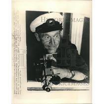 1948 Press Photo Captain John Rosenberg Latvian who guided the refugee ship