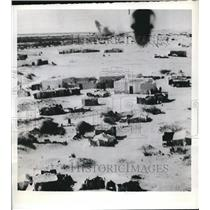 1941 Press Photo Bombing Damage After Attack, Sirte Airdrome, Libya - nee20850