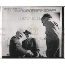 1958 Press Photo President Dwight D. Eisenhower, Will F. Nicholson, Richard Shaw