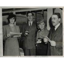 1939 Press Photo Mrs. Eric Tyrell-Martin, John Lakin, and Mrs. Hal Roach