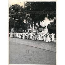 1963 Press Photo Protesters in Calcutta India Increase in School Enrollment
