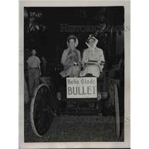 1939 Press Photo Mrs.Edgar Lawson and Mrs.Bert Winters n a model automobile