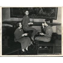 1936 Press Photo Bryn Mawr, Mark Hinckley Hutchings, Edith Rose, and Olga Muller
