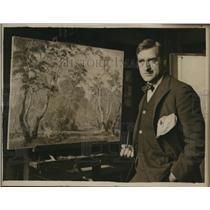 1925 Press Photo Naval Academy of Arts Phillip Commard, painter