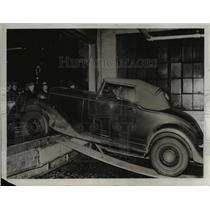 1934 Press Photo Auto Thieves Plan Shattered - nee23511