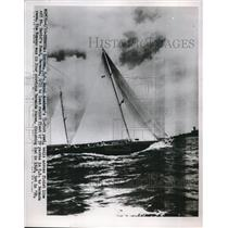 1952 Press Photo Royono Finishes First in Bermuda