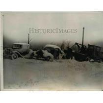 1938 Press Photo Blizzard in Chicago - nee21847