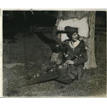 1928 Press Photo Pasadena Calif Tournament of Roses Oulna Lisk
